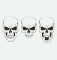 set skulls in different positions vector image
