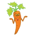 Smiling carrot vector image vector image