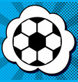 soccer ball sign black icon in bubble on vector image