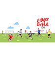 soccer cartoon players doodle football player vector image vector image