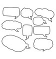 speech bubbles outline symbol icon design vector image