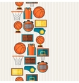 sports seamless pattern with basketball icons vector image