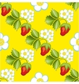 Strawberries seamless hand drawn pattern vector image