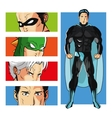 Superhero design Superman icon Costume vector image vector image