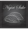 sushi color Nigiri Sake vector image