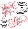 thank you welcome 380 vector image vector image