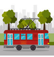 tramway transport retro service urban vector image