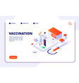vaccination isometric concept flu prevention vector image vector image