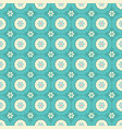vintage blue and cream geometric flowers vector image vector image