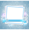 White paper card and snowflakes vector image vector image