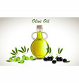 with glass jar full of olive vector image