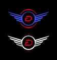 luxury logo d vector image