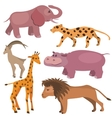 Set with funny tropic animals vector image