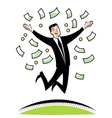 A lot of money vector image vector image