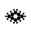 abstract logo hexagons suitable for a vector image