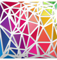 abstract pattern from triangles rainbow colors vector image