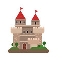 ancient castle medieval architecture building vector image vector image