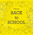 back to school signs wallpaper vector image vector image
