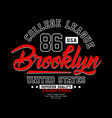brooklyn typography t-shirt graphics vector image vector image