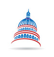 capitol usa government icon vector image