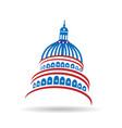 capitol usa government icon vector image