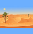 cartoon nature sand desert landscape with palms vector image vector image