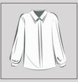 classic white shirt blouse oversize fashion vector image vector image