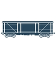 Covered Railway freight car vector image vector image