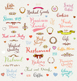 Cute Label Set vector image