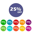 Discount flat icon vector image