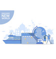 discover new world flat style design vector image vector image