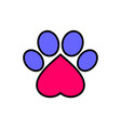 dog foot abstract love pets logo icon vector image vector image