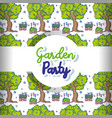 Garden party pattern background