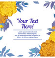 hand drawn frame for text with peony flowers and vector image vector image