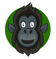 happy cartoon gorilla on white background vector image