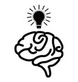 isolated brain silhouette vector image