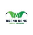 leaf logo shaped letter m vector image