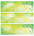 leaves spring banners vector image vector image