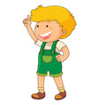 little boy with finger pointing up vector image vector image