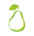 logo with silhouette pear vector image vector image
