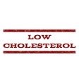 Low Cholesterol Watermark Stamp vector image
