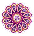 mandala flower vector image vector image