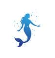 mermaid design vector image vector image