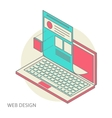 mobile and desktop website design development vector image