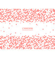 modern square pattern of living coral color vector image vector image