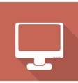 Monitor web icon flat design vector image