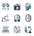 MRI blue and black flat icons vector image vector image