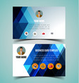 name card template4 vector image