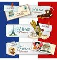 Paris Touristic Banners vector image vector image
