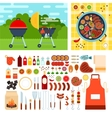 Picknic with grill on summer day vector image vector image